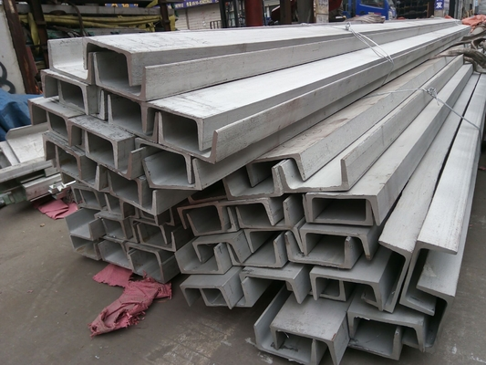 ASTM A36 Hot Rolled Stainless Steel U Channel Black / Bright Surface For Construction
